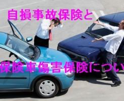 自損事故保険と無保険車傷害保険について