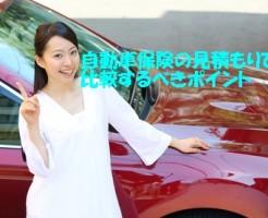 自動車保険の見積もりで比較するべきポイント