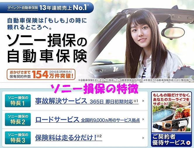 ソニー損保の自動車保険特徴
